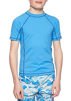 J. Khaki Short Sleeve Rashguard Boys 8-20