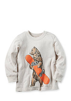 Carter's Long Sleeve Snowboard Bear Tee Boys 4-7
