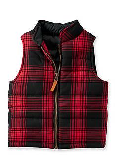 Carter's Flannel Puffer Vest Boys 4-7