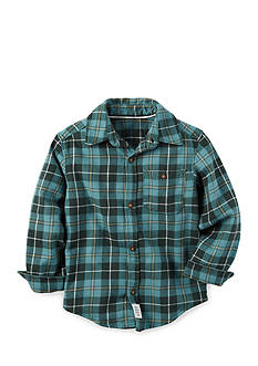 Carter's Button Front Woven Plaid Shirt Boys 4-7