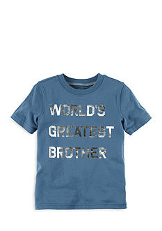 Carter's® Foil-Print World's Greatest Brother Graphic Tee Boys 4-7