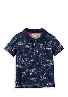Carter's® Printed Slub Jersey Polo Boys 4-7
