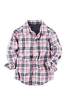 Carter's Plaid Button-Front Shirt Boys 4-7
