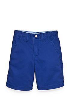 J. Khaki Solid Flat Front Shorts Boys 4-7