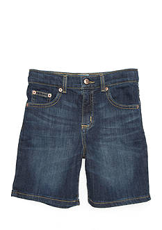 J. Khaki Flat-Front Stretch Shorts Boys 4-7