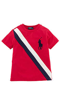 Ralph Lauren Childrenswear Preppy Banner Stripe Tee Boys 4-7