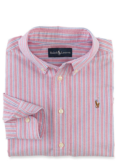 Ralph Lauren Childrenswear Multi-Stripe Oxford Boys 4-7