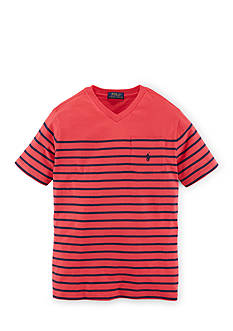 Ralph Lauren Childrenswear Stripe V-Neck Tee Boys 4-7