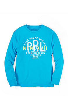 Ralph Lauren Childrenswear Long Sleeve Screen Print Tee Boys 4-7