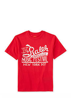 Ralph Lauren Childrenswear Music Festival Graphic Tee Boys 4-7