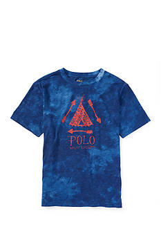Ralph Lauren Childrenswear Tie Dye Graphic Tee Boys 4-7
