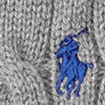 Little Boys Sweaters: Boulder Grey Heather Ralph Lauren Childrenswear Cable-Knit Cotton Sweater Vest Boys 4-7