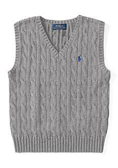 Ralph Lauren Childrenswear Cable-Knit Cotton Sweater Vest Boys 4-7