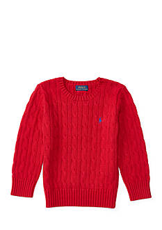 Ralph Lauren Childrenswear Cable-Knit Cotton Sweater Boys 4-7