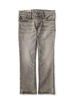 Ralph Lauren Childrenswear Slim-Fit Chip Wash Jeans Boys 4-7