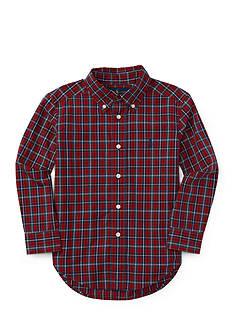 Ralph Lauren Childrenswear Poplin Plaid Shirt Boys 4-7