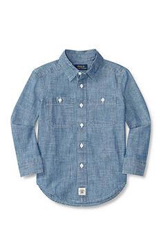 Ralph Lauren Childrenswear Chambray Shirt Boys Boys 4-7