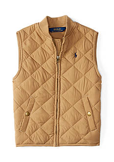 Ralph Lauren Childrenswear Microfiber Baseball Vest Boys 4-7