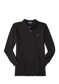 Ralph Lauren Childrenswear Cotton Mesh Long Sleeve Polo Boys 4-7