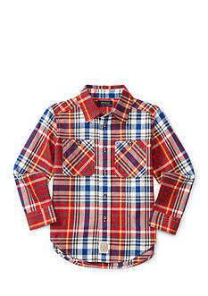 Ralph Lauren Childrenswear Plaid Button Down Shirt Boys 4-7