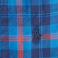Ralph Lauren Boys: Royal/ Navy/ Multi Ralph Lauren Childrenswear Plaid Cotton Poplin Shirt Boys 4-7