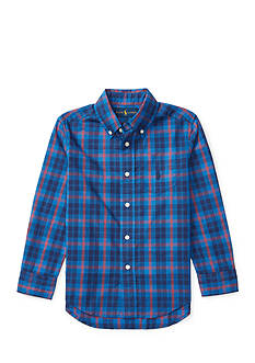 Ralph Lauren Childrenswear Plaid Cotton Poplin Shirt Boys 4-7