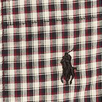 Ralph Lauren Boys: Black/ White Multi Ralph Lauren Childrenswear Plaid Cotton Poplin Shirt Boys 4-7