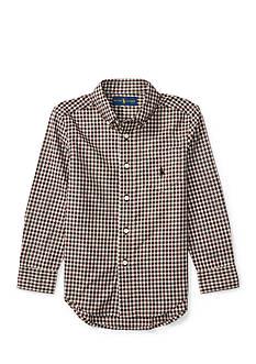 Ralph Lauren Childrenswear Plaid Cotton Poplin Shirt Boys 4-7