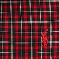 Ralph Lauren Boys: Black/Red Multi Ralph Lauren Childrenswear Cotton Poplin Shirt Boys 4-7