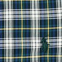 Baby & Kids: Button Front Sale: Green/White Multi Ralph Lauren Childrenswear Cotton Poplin Shirt Boys 4-7