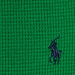 Little Boys T-shirts: Parrot Green Ralph Lauren Childrenswear Waffle-Knit Cotton-Blend Tee Boys 4-7
