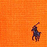 Little Boys T-shirts: Neon Orange Ralph Lauren Childrenswear Waffle-Knit Cotton-Blend Tee Boys 4-7