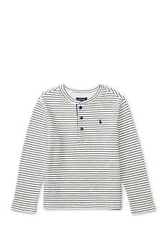 Ralph Lauren Childrenswear Waffle-Knit Cotton Henley Boys 4-7