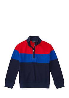 Ralph Lauren Childrenswear Cotton Mesh Half-Zip Pullover Boys 4-7