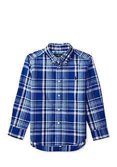 Ralph Lauren Childrenswear Plaid Poplin Shirt Boys 4-7