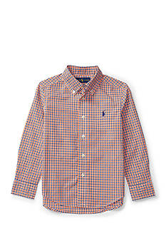 Polo Ralph Lauren Plaid Cotton Poplin Shirt Boys 4-7