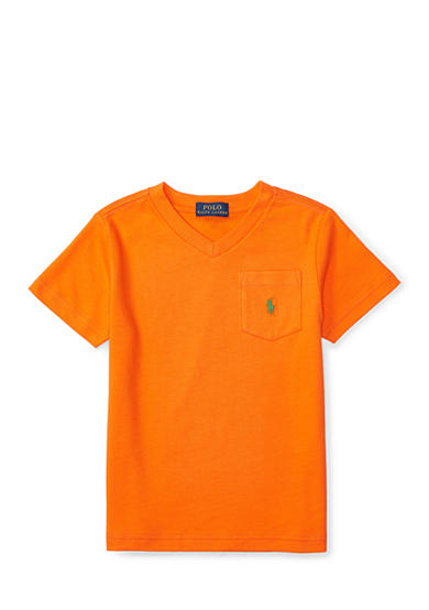 Polo Ralph Lauren Cotton V-Neck Pocket Tee Boys 4-7