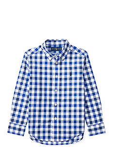 Ralph Lauren Childrenswear Poplin Long Sleeve Shirt Boys 4-7