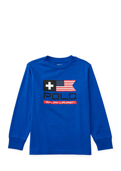 Ralph Lauren Childrenswear Cotton Long-Sleeve Graphic Tee Boys 4-7