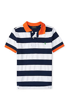 Ralph Lauren Childrenswear Striped Cotton Mesh Polo Boys 4-7