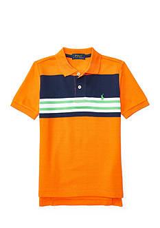 Ralph Lauren Childrenswear Striped Cotton Mesh Polo Shirt Boys 4-7