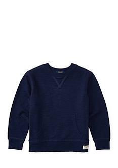 Ralph Lauren Childrenswear Slub Cotton Jersey Sweatshirt Boys 4-7