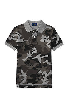 Ralph Lauren Childrenswear Camo Cotton Mesh Polo Shirt Boys 4-7