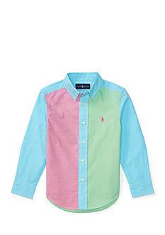 Ralph Lauren Childrenswear Patchwork Cotton Poplin Shirt Boys 4-7
