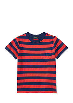 Ralph Lauren Childrenswear Textured Jersey Short Sleeve Pocket Tee Boys 4-7