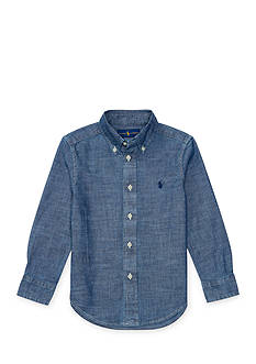 Ralph Lauren Childrenswear Chambray Blake Button Down Shirt Boys 4-7