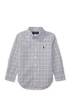 Ralph Lauren Childrenswear Cotton Poplin Shirt Boys 4-7