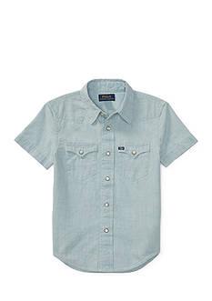 Ralph Lauren Childrenswear Chambray Western Shirt Boys 4-7