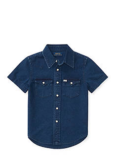 Ralph Lauren Childrenswear Cotton Oxford Western Shirt Boys 4-7