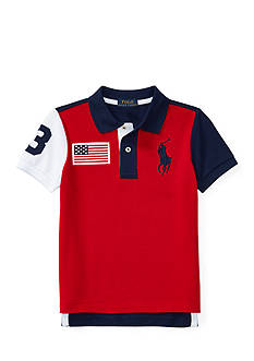 Ralph Lauren Childrenswear Color-Blocked Cotton Mesh Polo Boys 4-7